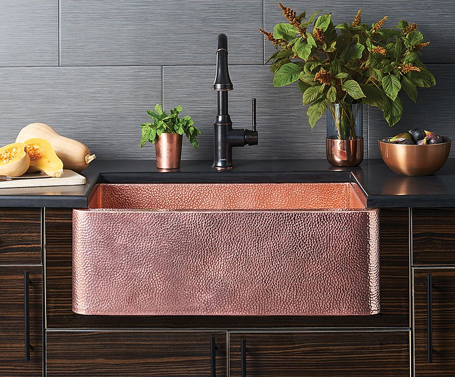 Farmhouse 30 Polished Copper Kitchen Sink from Native Trails