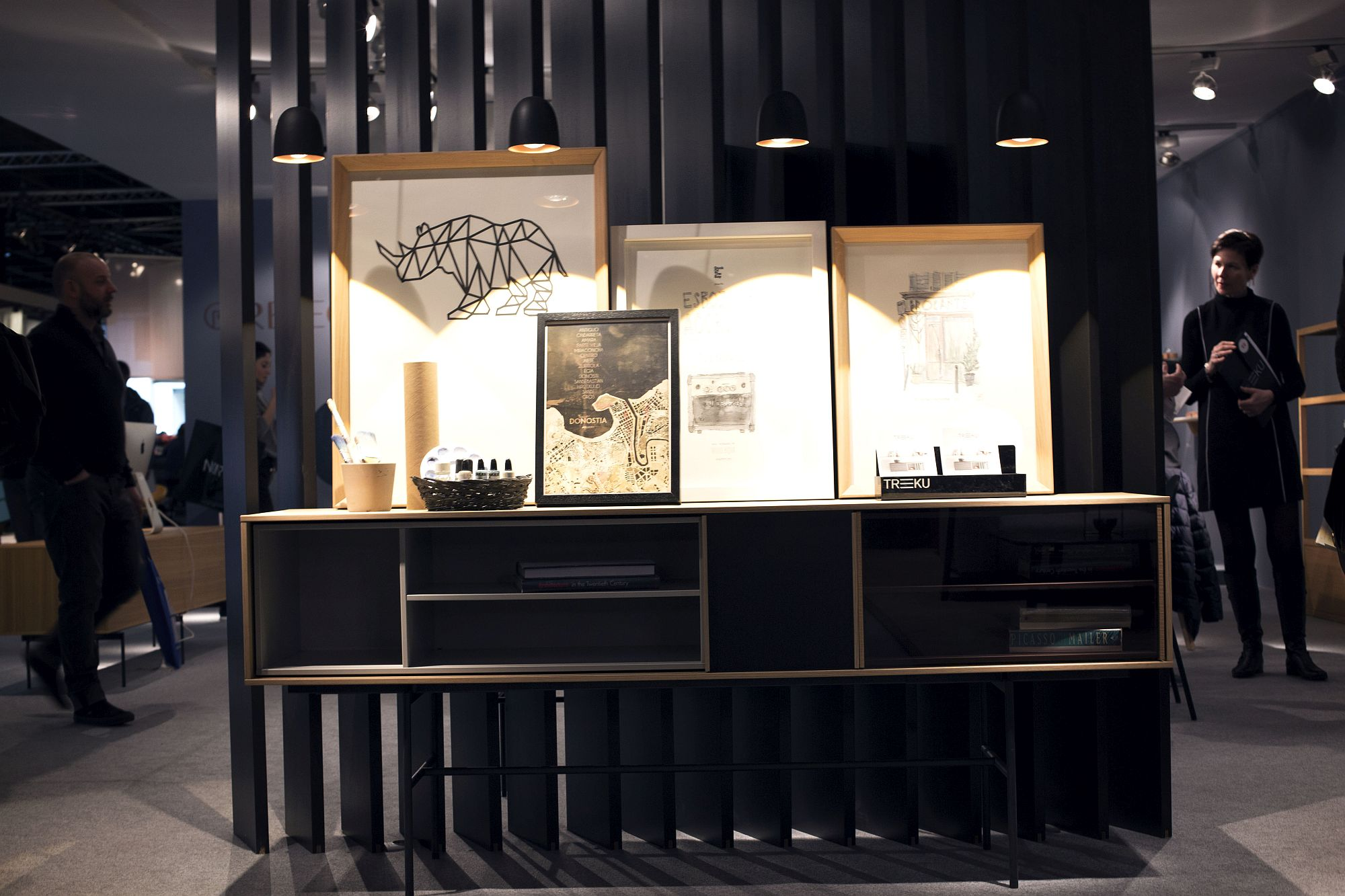 Fashionable sideboard for the living room also allows you to display artwork with ease