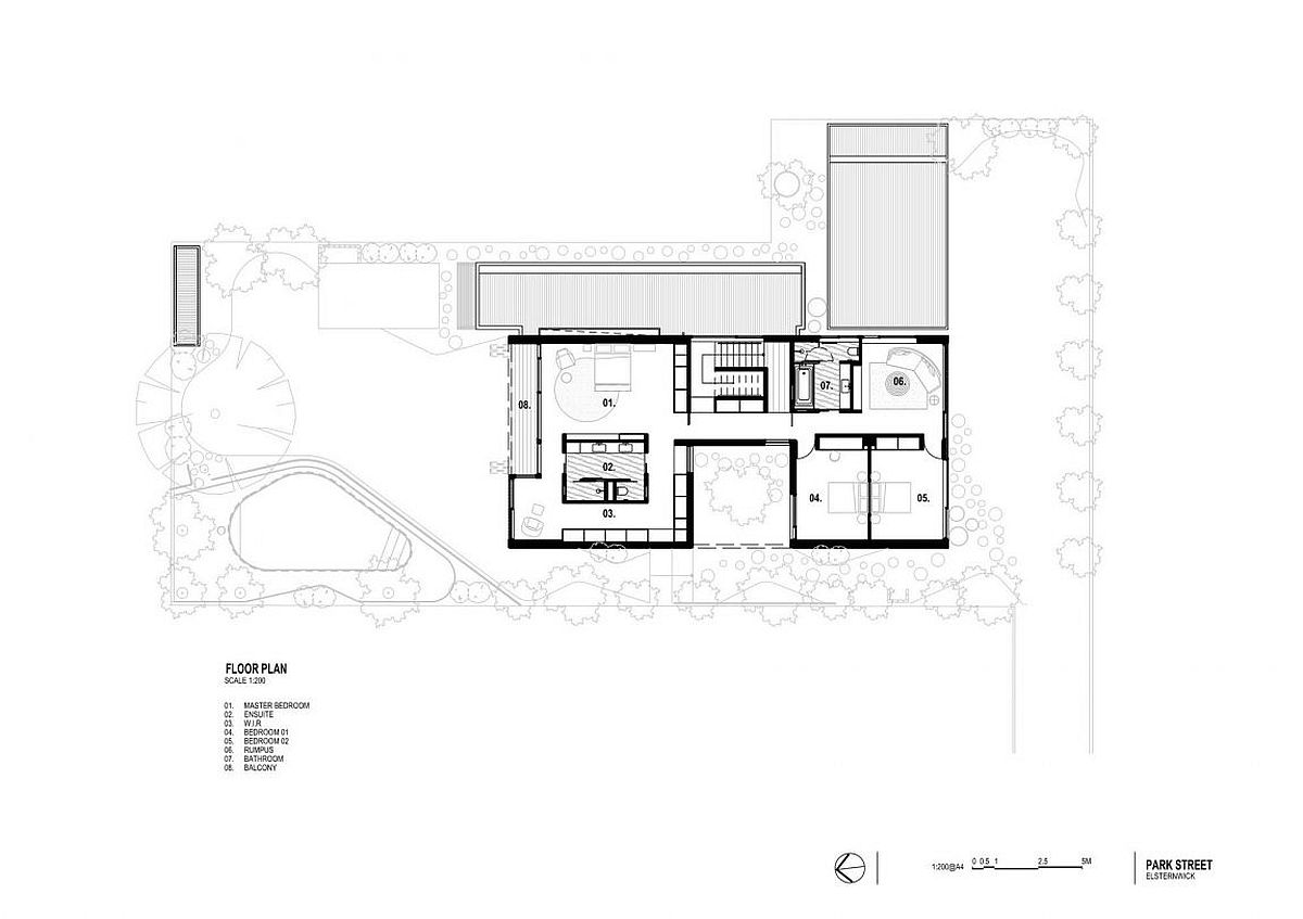 Floor plan of Hiding House in Sydney