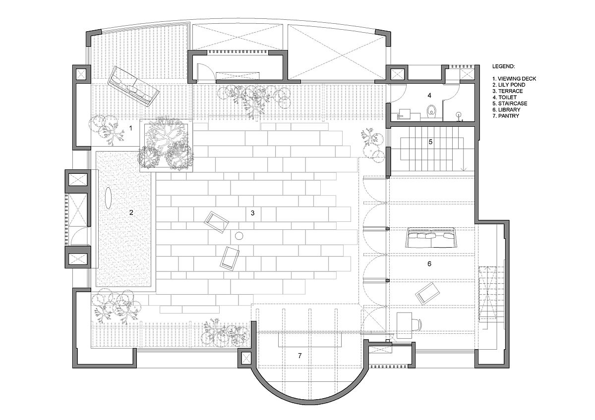 Floor plan of Veranda on a Roof in Pune, India