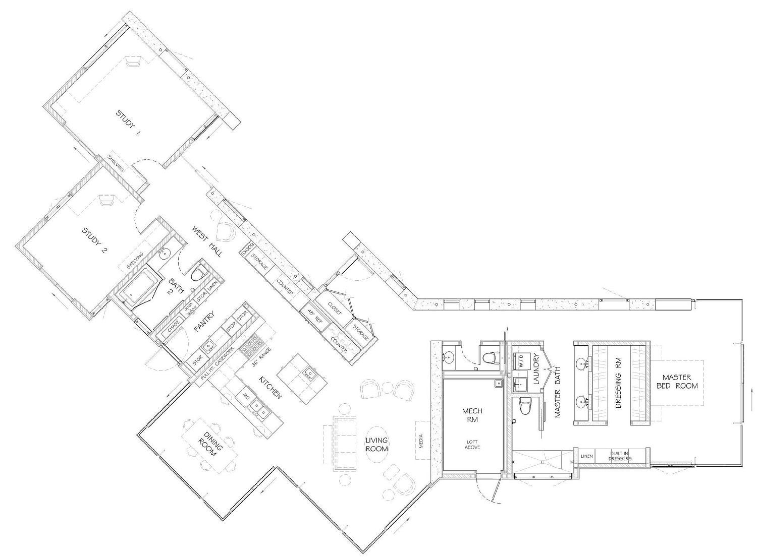 Floor plan of sustainable Yorkville House