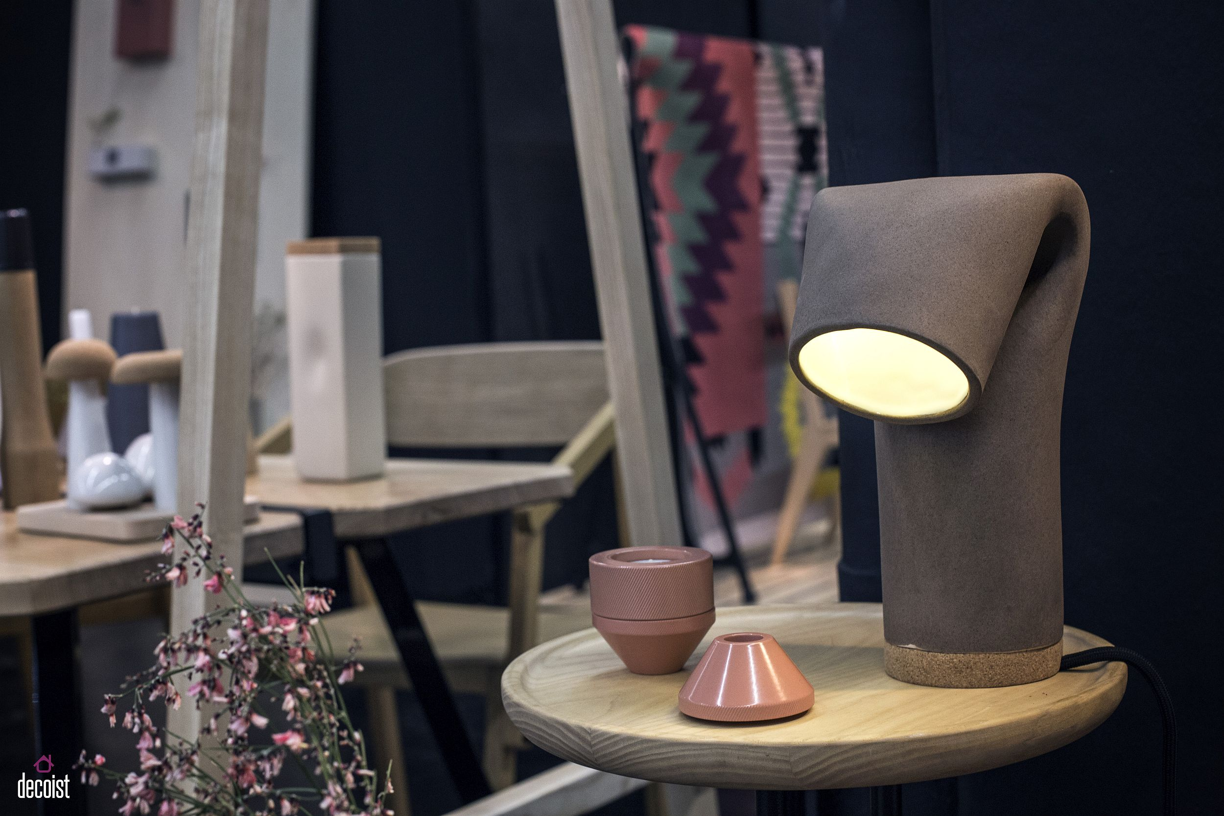 Give the classic bedside lamp a fashionable twist with this delight from Ubi Kubi