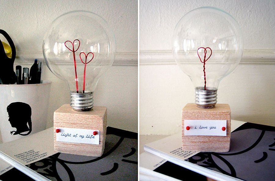 Gorgeous DIY Valentine Light Bulb