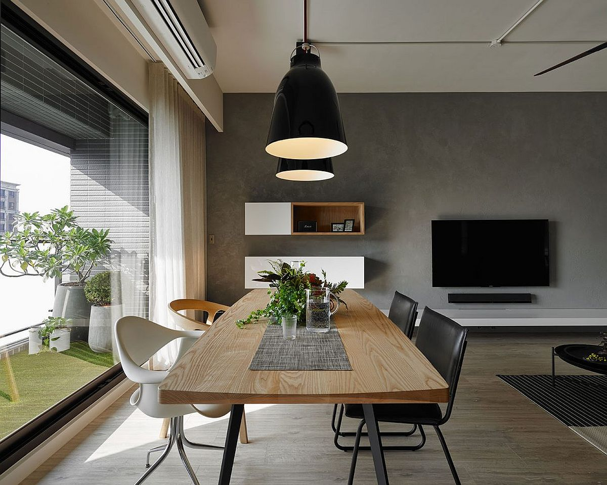 Green nook brings light and freshness to the living room