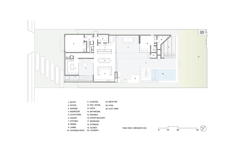 Ground-level-floor-plan-of-the-Yin-Yang-Residence-in-California