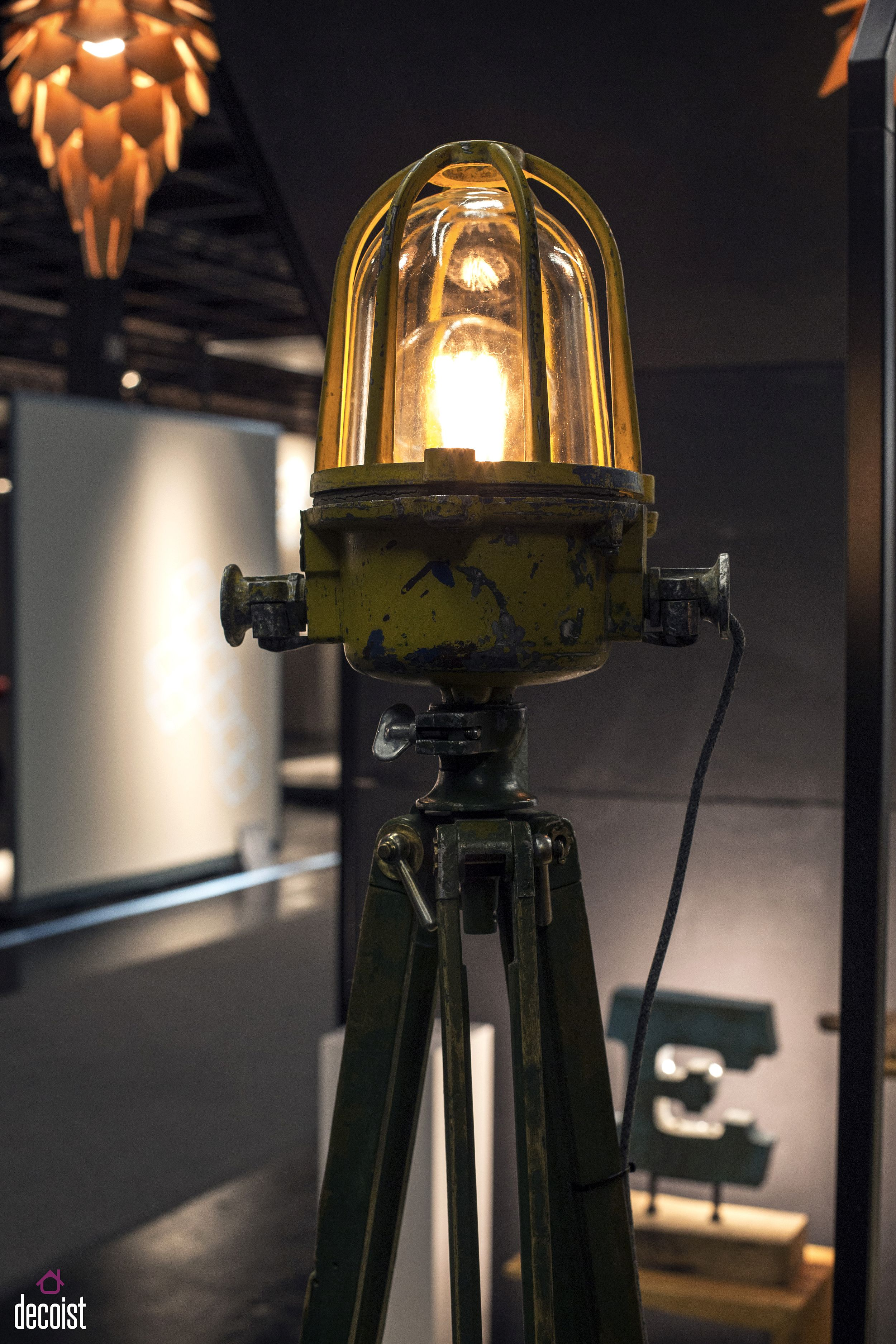 Industrial floor lamp from dizainar also serves as an interesting piece of artwork!