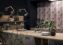 Industrial-style-sconce-light-illuminate-the-dashing-kitchen-shelf-217x155