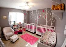 Intense-pink-and-mild-gray-nursery--217x155