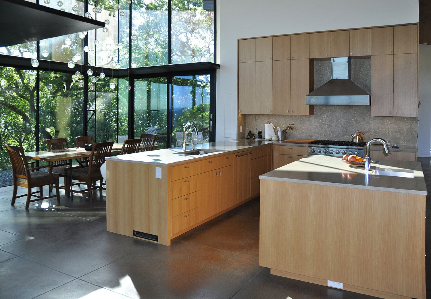 Kitchen and dining room of the lovely Yorkville Residence