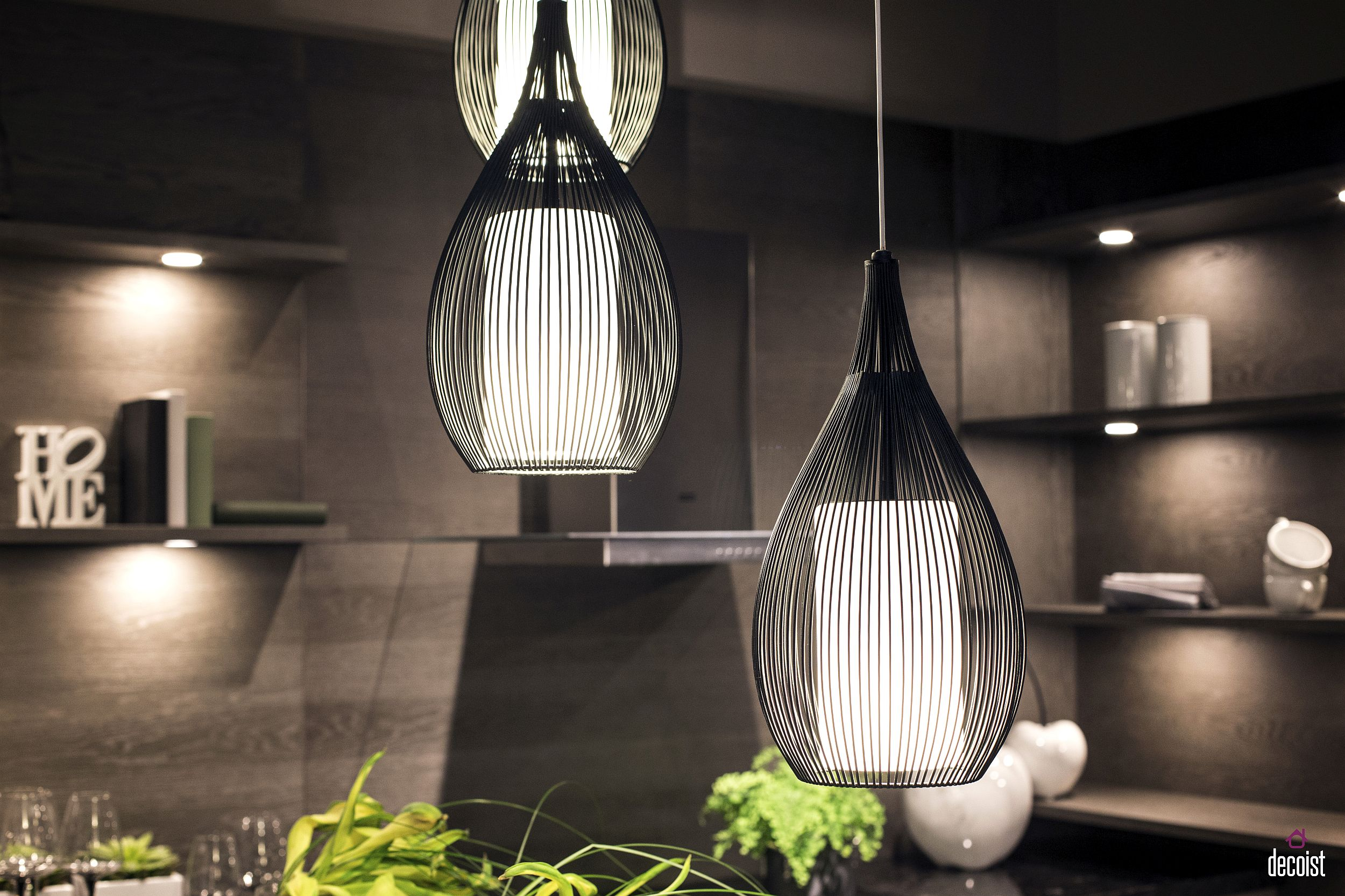 Latest Scandinavian style pendants are perfect for the modern kitchen