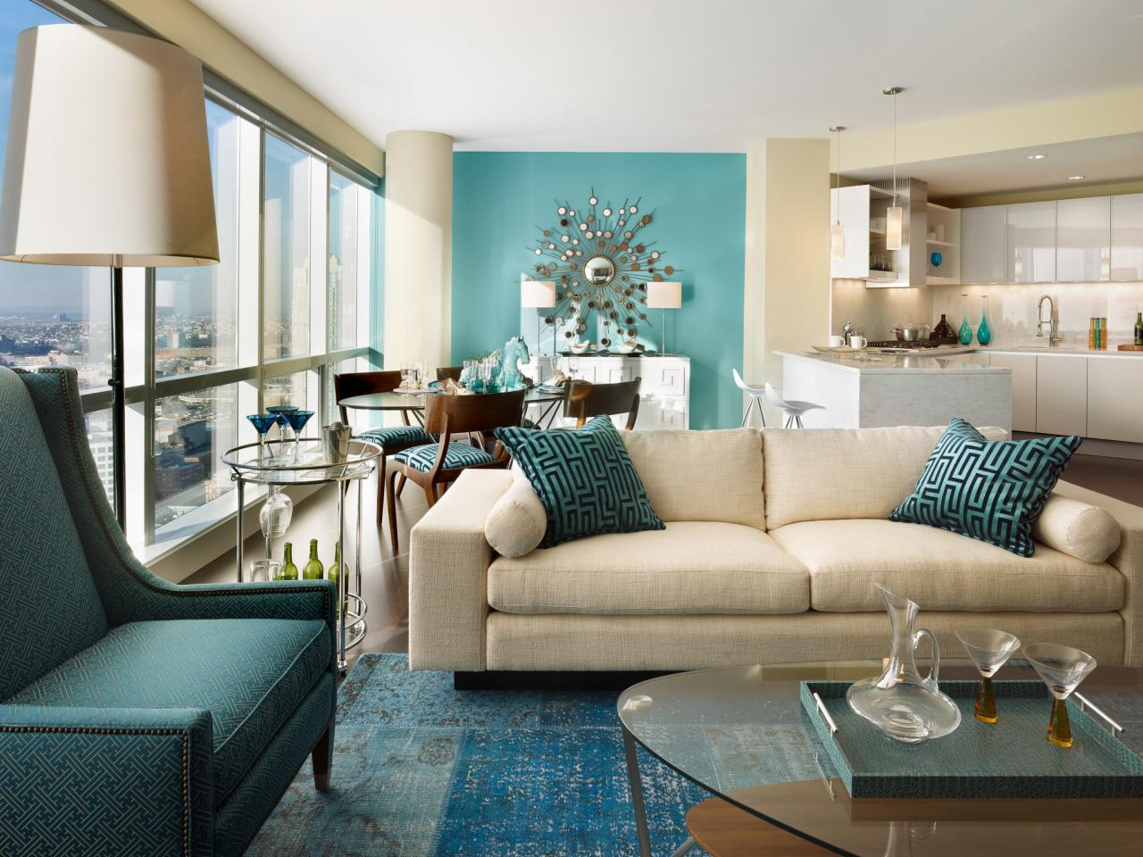 Modern Living Room Blue fresh and pastel: style your living room in mint hues