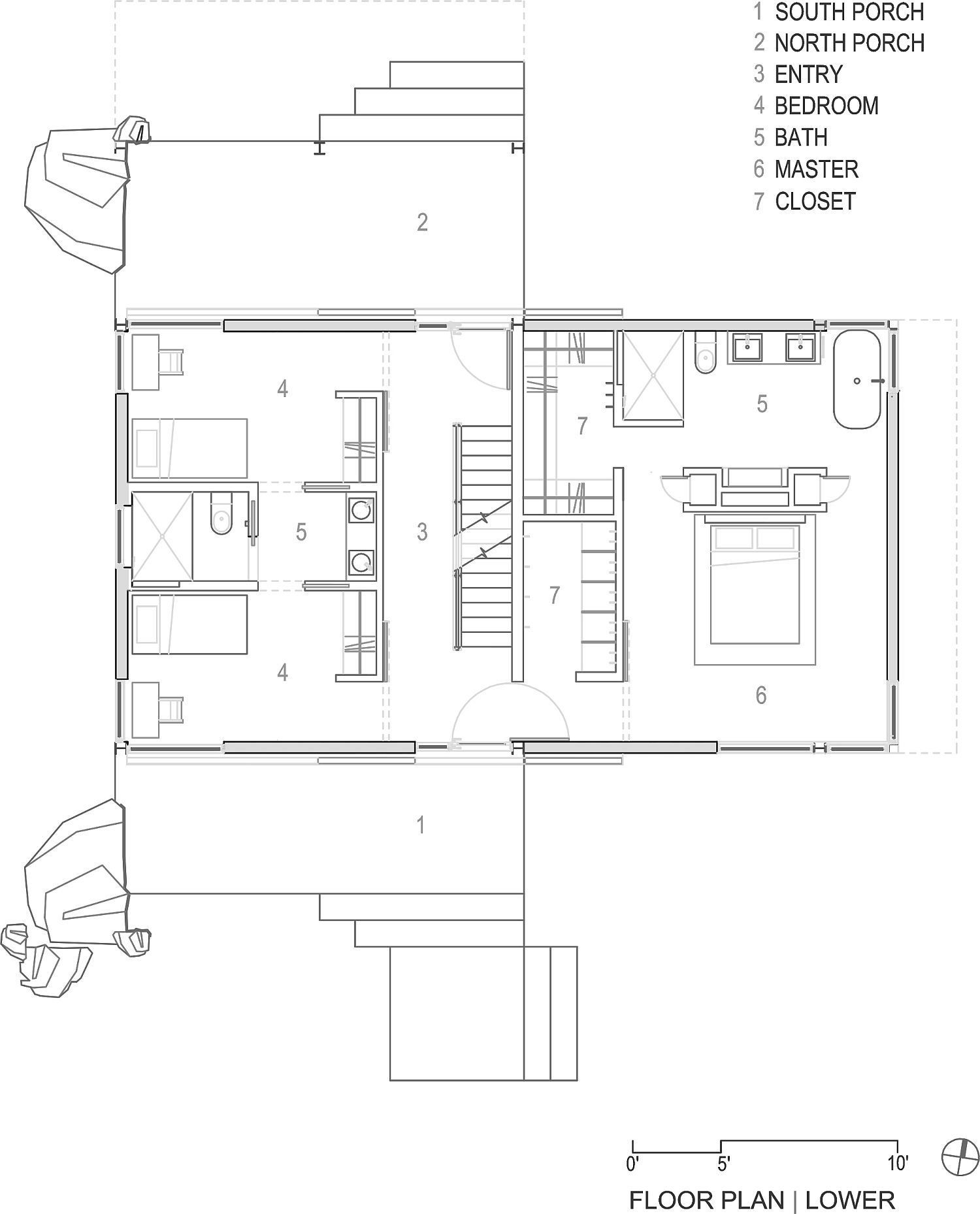 Lower-level-floor-plan-of-the-gabled-roof-house-in-Boulder