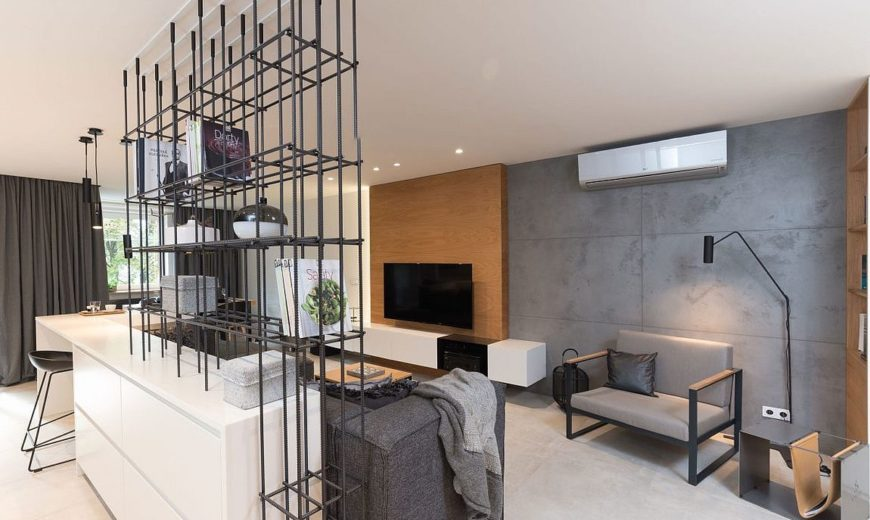 A Celebration of Gray Panache: Refined Apartment in Prague