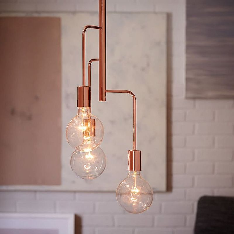 Metro 3-Light Pendant with industrial style