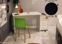 Minimal-homeowrk-station-for-the-kids-room-in-the-corner-with-a-colorful-chair-in-green-and-a-small-cabinet-217x155