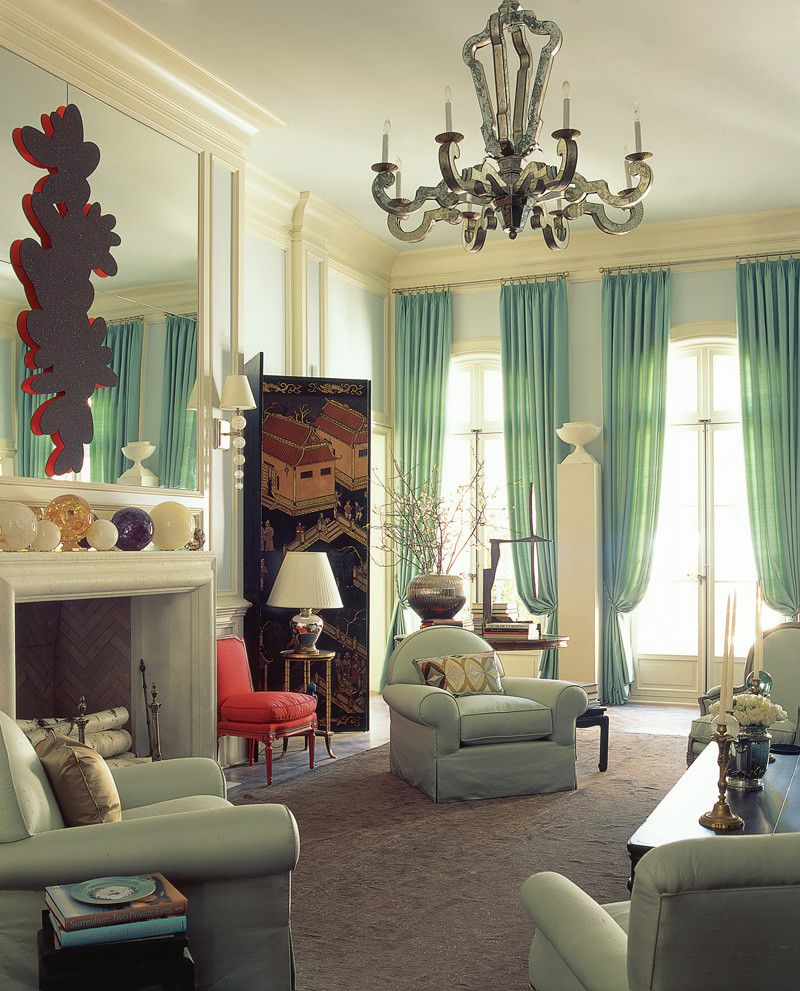 fresh and pastel: style your living room in mint hues