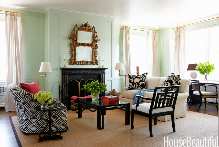 Fresh And Pastel: Style Your Living Room In Mint Hues Part 65