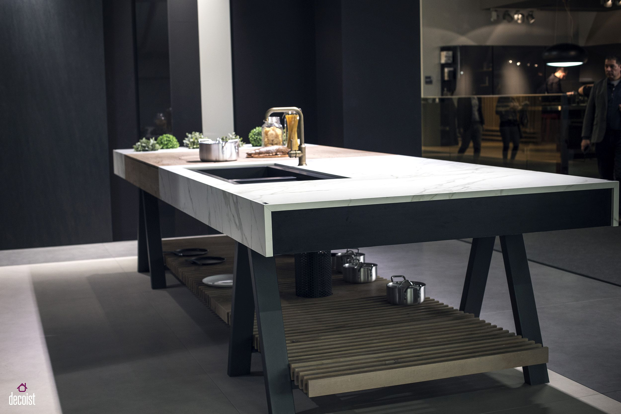Neo Lith creates an open and exclusive kitchen island fill of contemporary charm