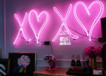 Neon Lights Within A Bedroom