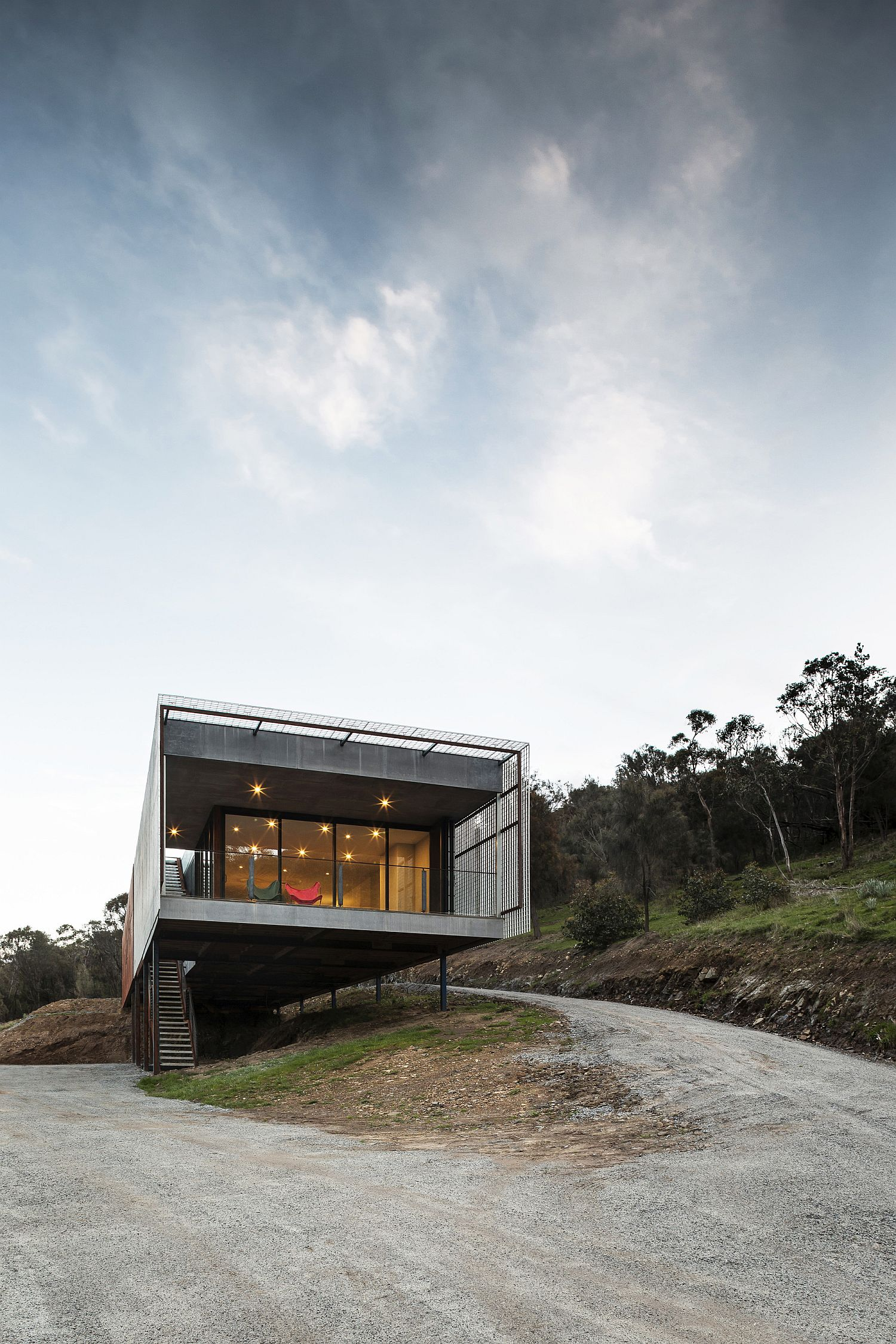 Open and relaxing space around the Mount Macedon House