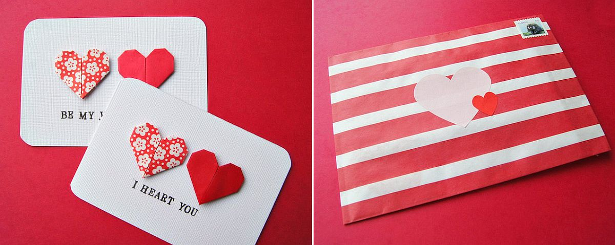 Origami heart cards DIY Project