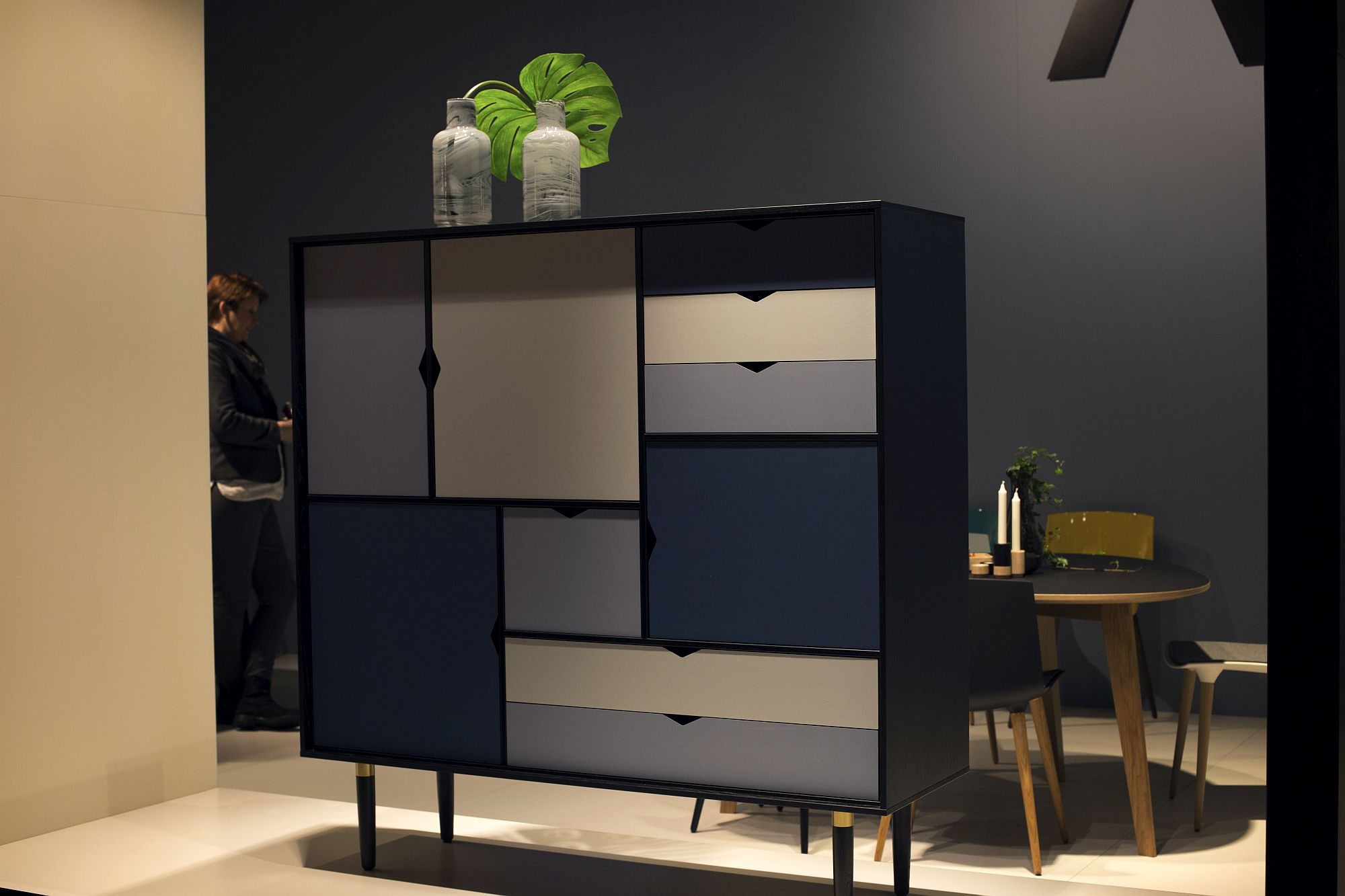 Oversized sideboard is perfect for double-height interiors