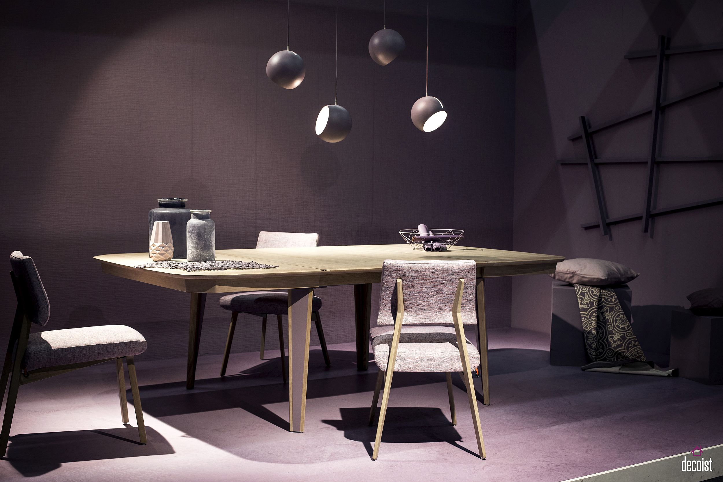Pendants in gray fit in seamlessly with contemporary style