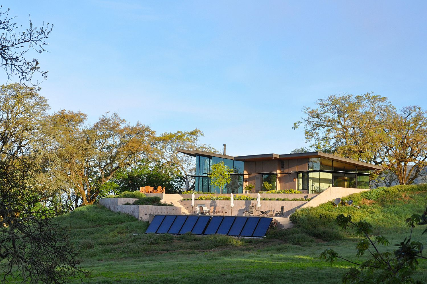 Photovoltaic panels power the beautiful Yourkville House