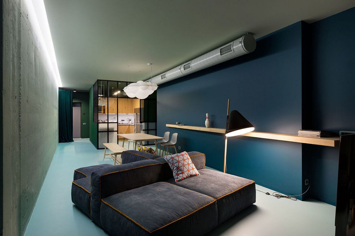 Colorful minimalism meets captivating views inside this kiev apartment