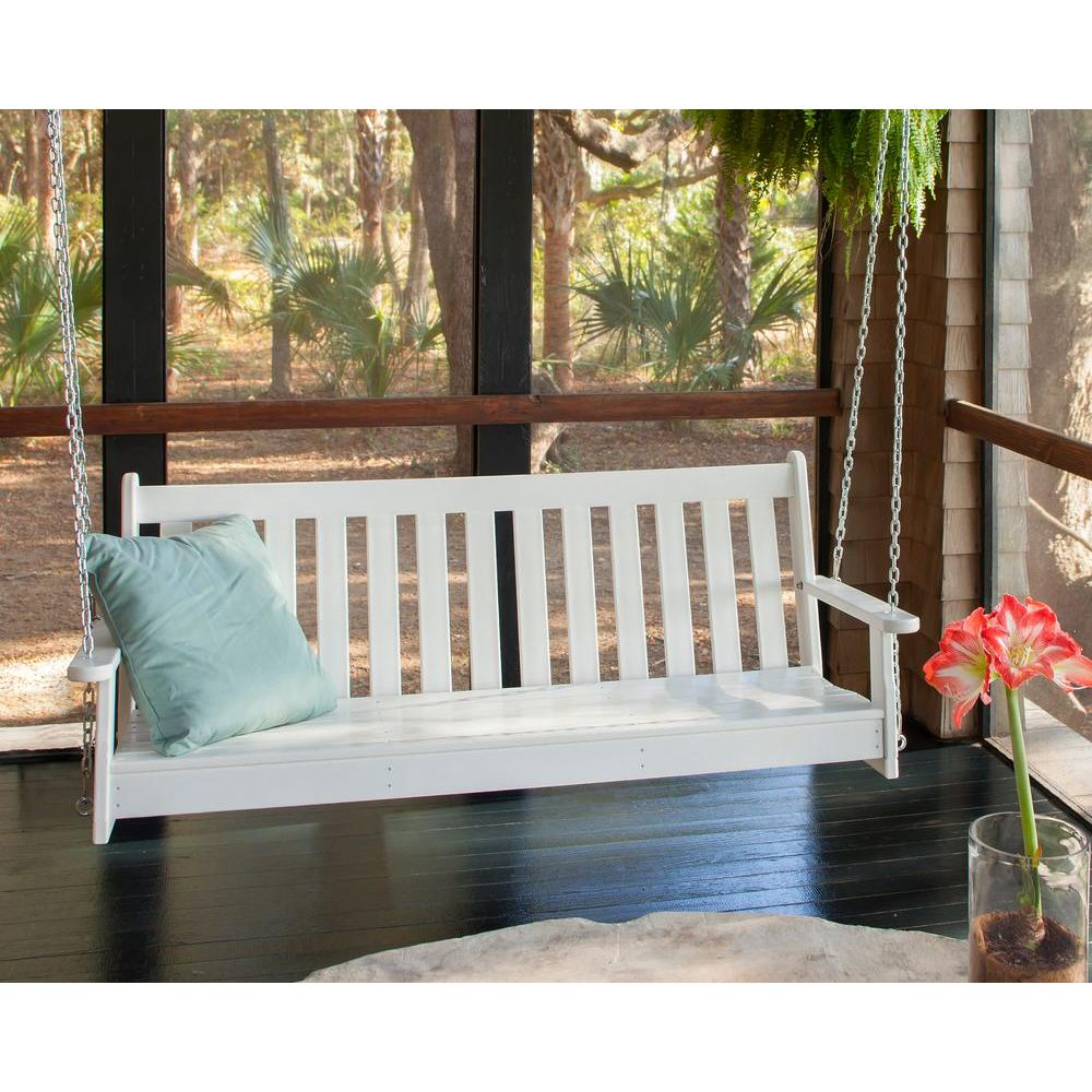 Porch swing for an American-dream styled home