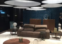 Posh contemporary living room with a trio of coffee tables 217x155 Beyond Mundane: Novel Geo Style Décor Ideas that Usher in Contrast