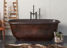 Santorini freestanding copper bathtub with antique finish 217x155 Metallic Magic: 13 Ways to Bring Home Polished Copper and Nickel
