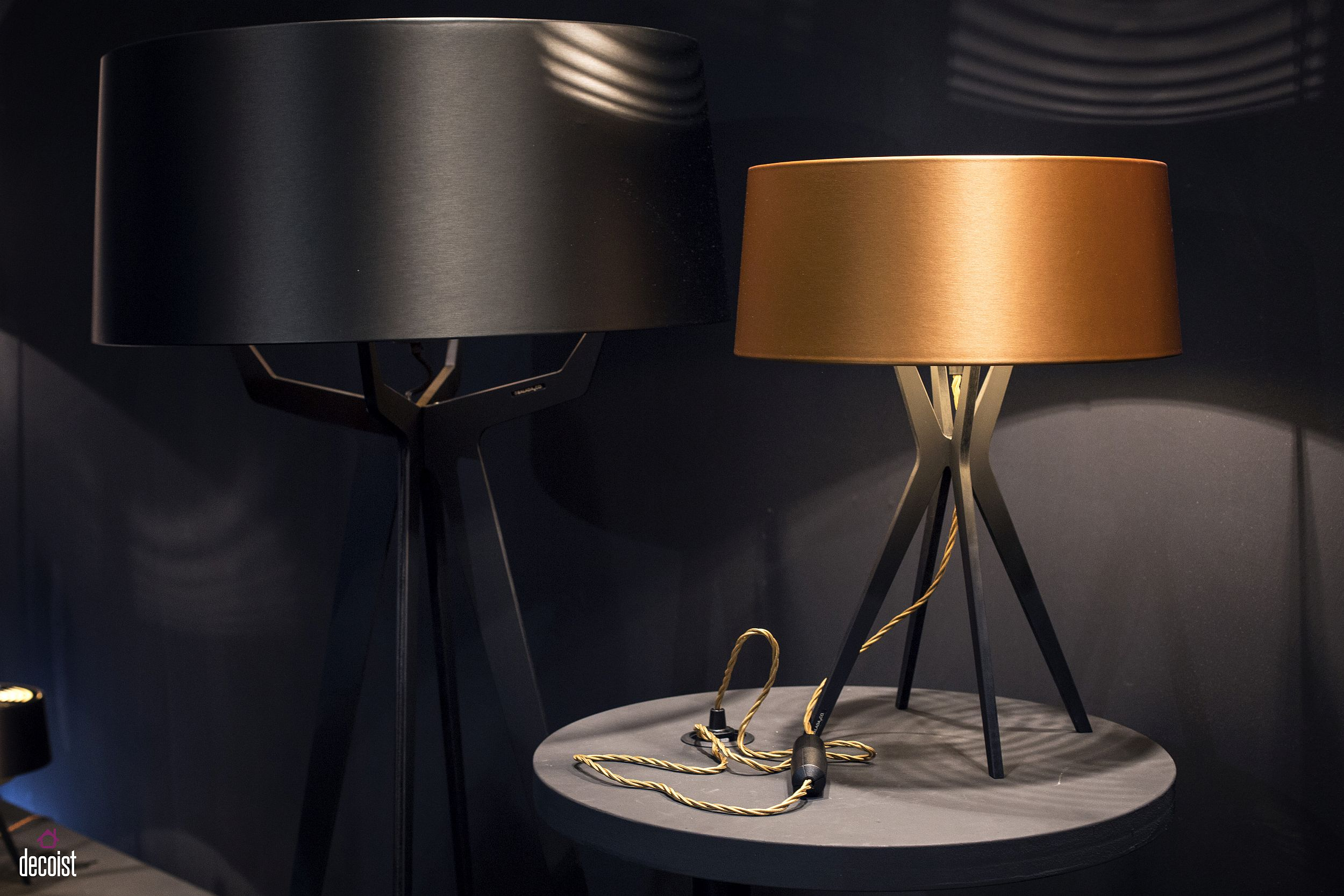 Selecting floor and table lamps that complement one another is a great way to create a dashing bedroom