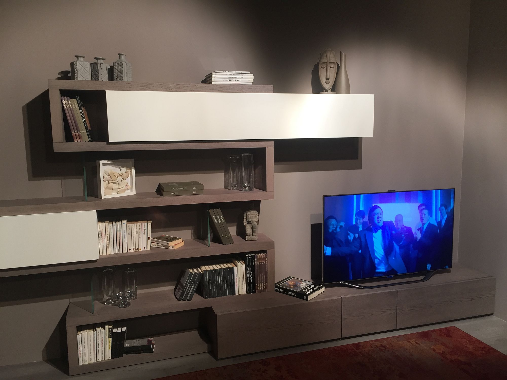 In Gallery Series Of Open Shelves And Closed Cabinets For The Living Room Entertainment