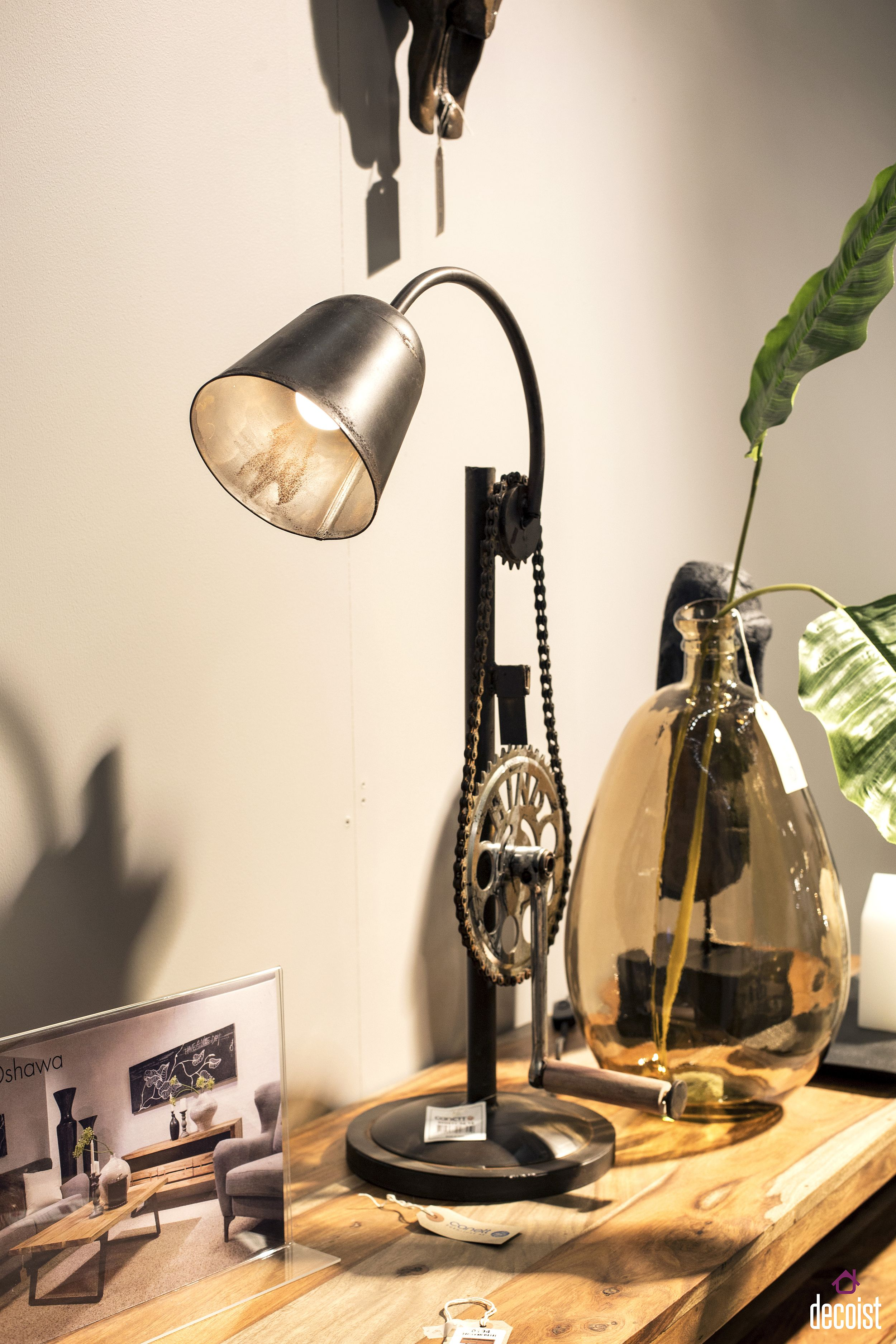 Small industrial table lamp with a dash of steampunk