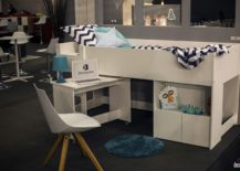 Small-kids-bunk-bed-with-tiny-workstation-on-wheels-from-Demeyere-217x155