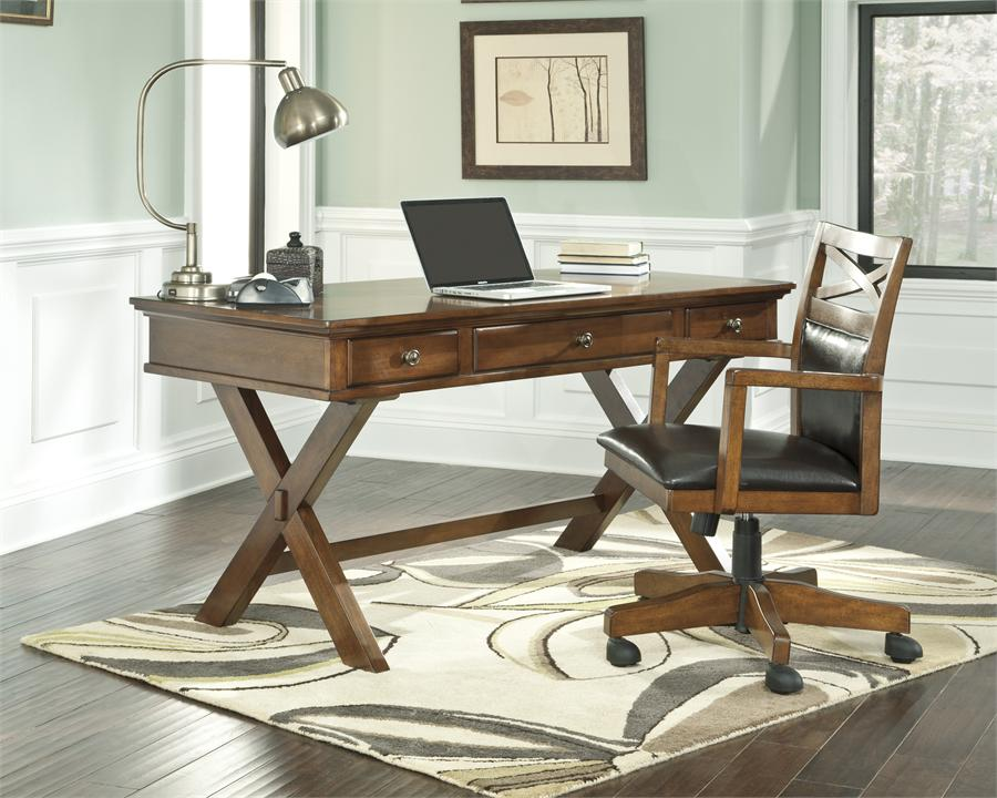 Cozy workspaces home offices with a rustic touch for Center table design for office