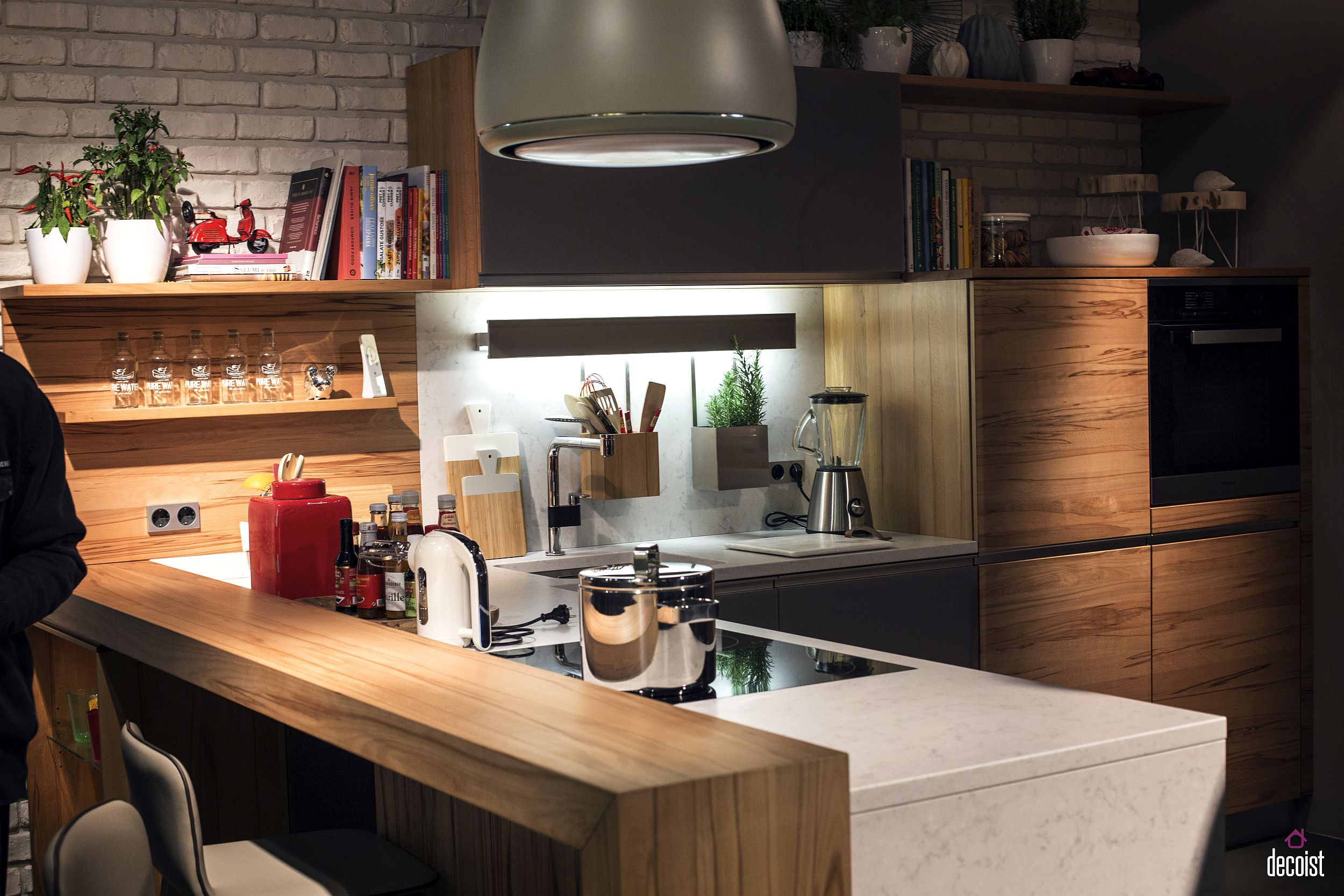 Modern kitchen shelves - It S All About Lighting