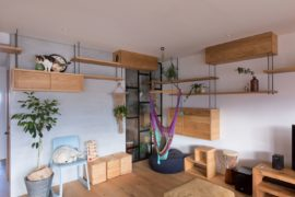 This Creative Japanese Apartment is a Space-Savvy Cat Haven!
