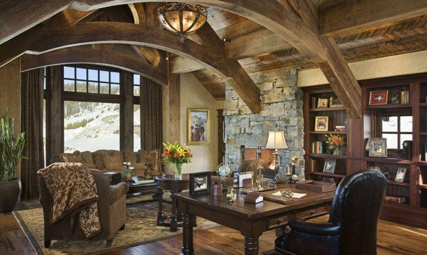 Cozy Workspaces: Home Offices with a Rustic Touch