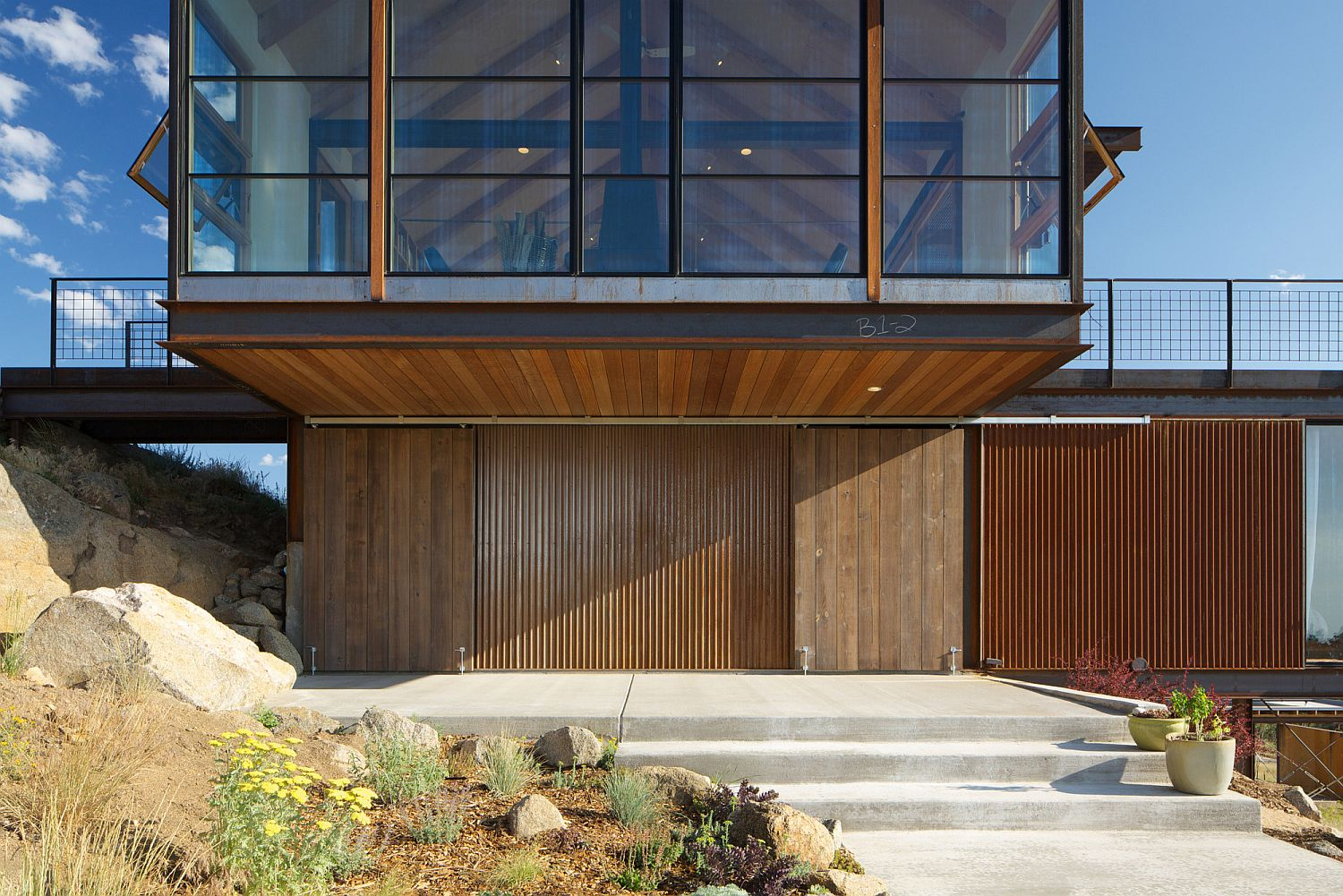 Stone-wood-metal-and-glass-shape-a-stunning-home-in-Boulder-Colorado