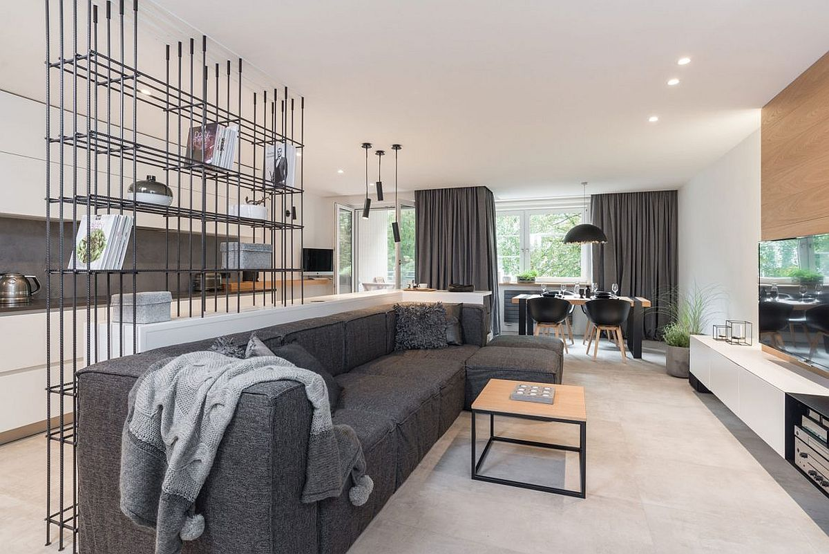 Stylish and refined Grey Wood Apartment in Prague A Celebration of Gray Panache: Refined Apartment in Prague