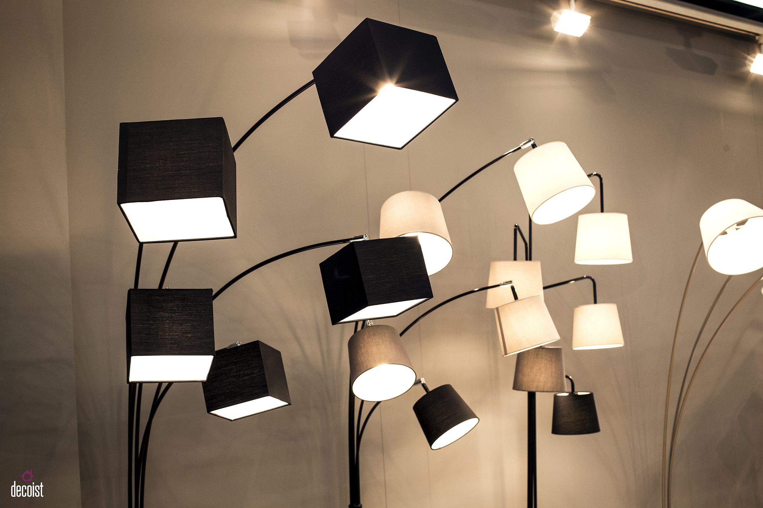 Stylish contemporary floor lamps from Tong Sun Lighting Fixtures