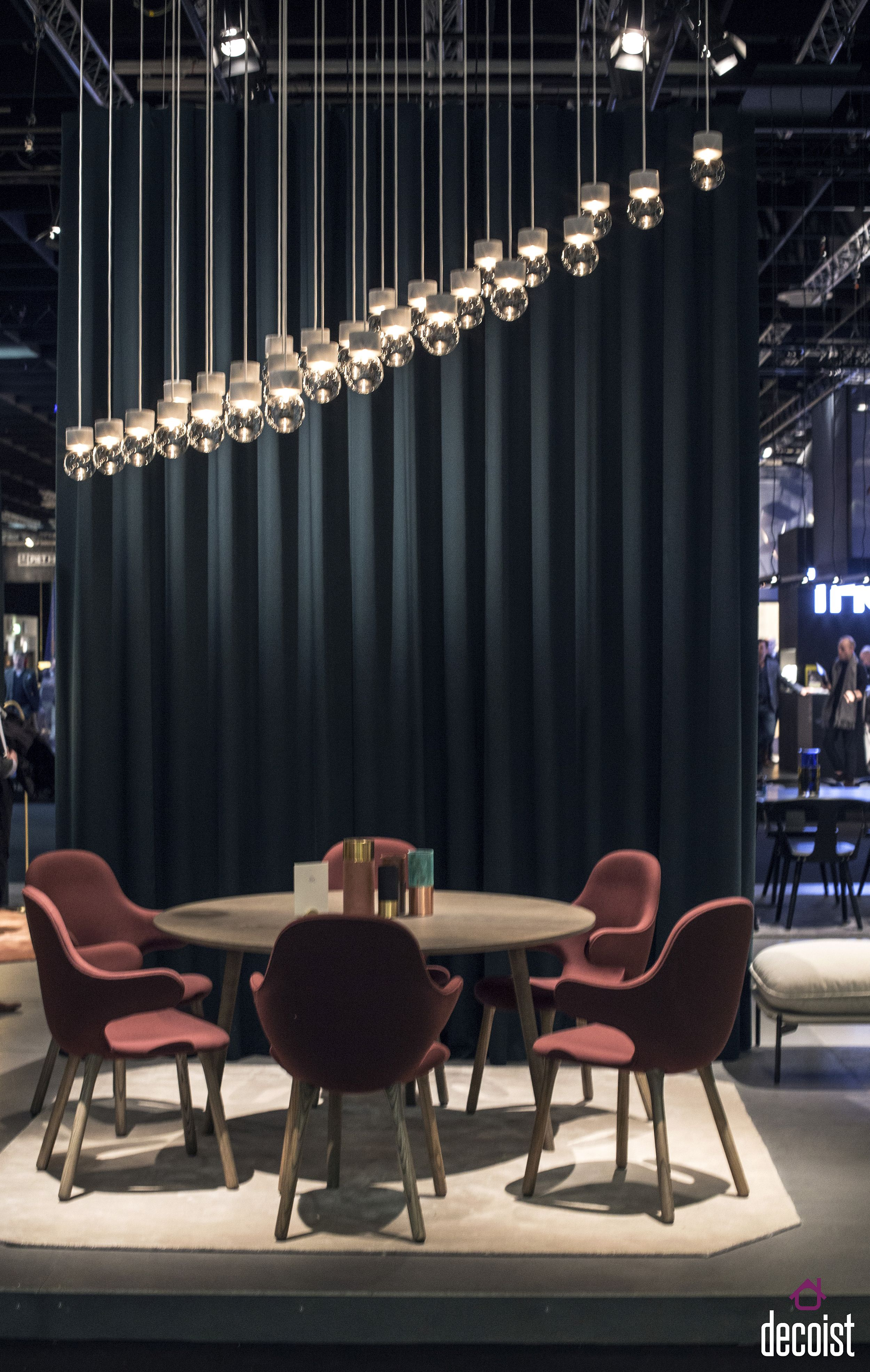 Stylish series of glass pendants is the perfect for the dining room