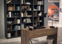 home office shelf. view in gallery ingenious open shelves with raw concrete finish look great modern industrial home office shelf