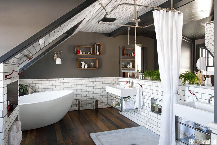 Cozy Bathrooms In Attic Apartments