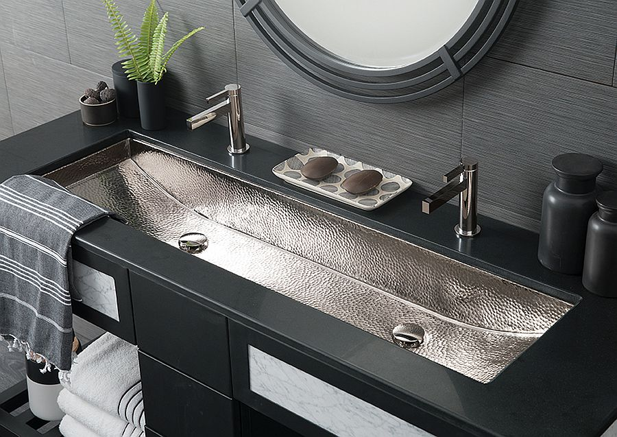 Trough-48-rectangular-polished-nickel-bathroom-sink-for-the-spacious-modern-bathroom