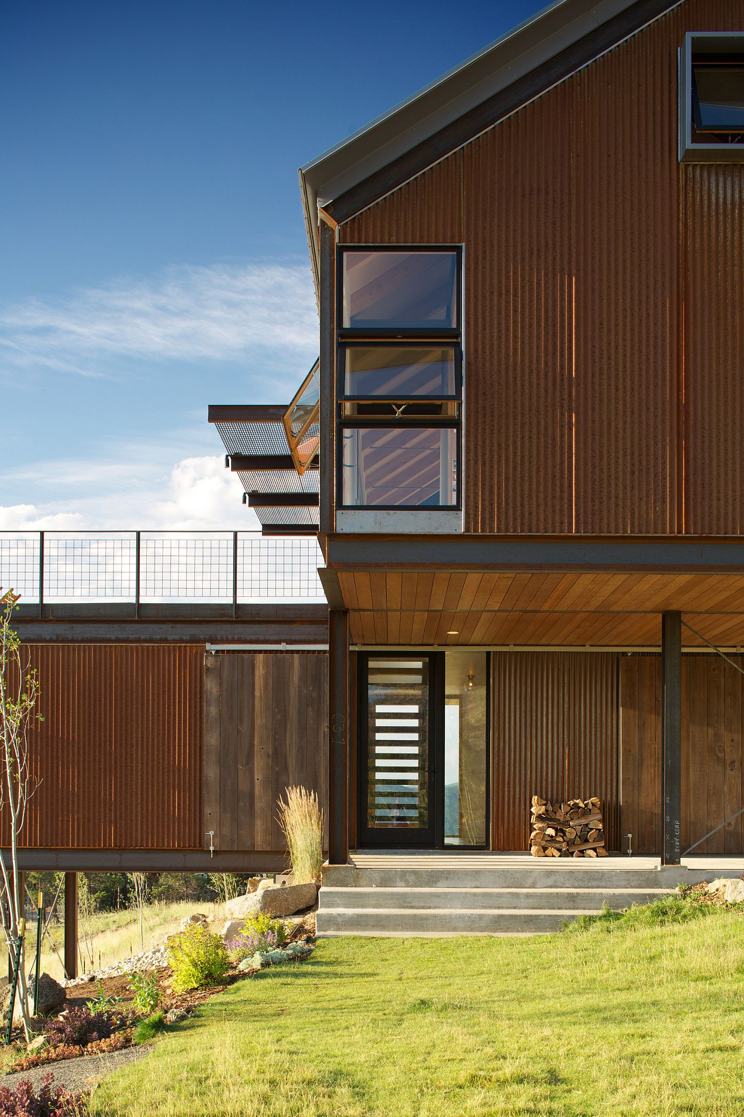 Two units of the Sunshine Canyon house in Boulder