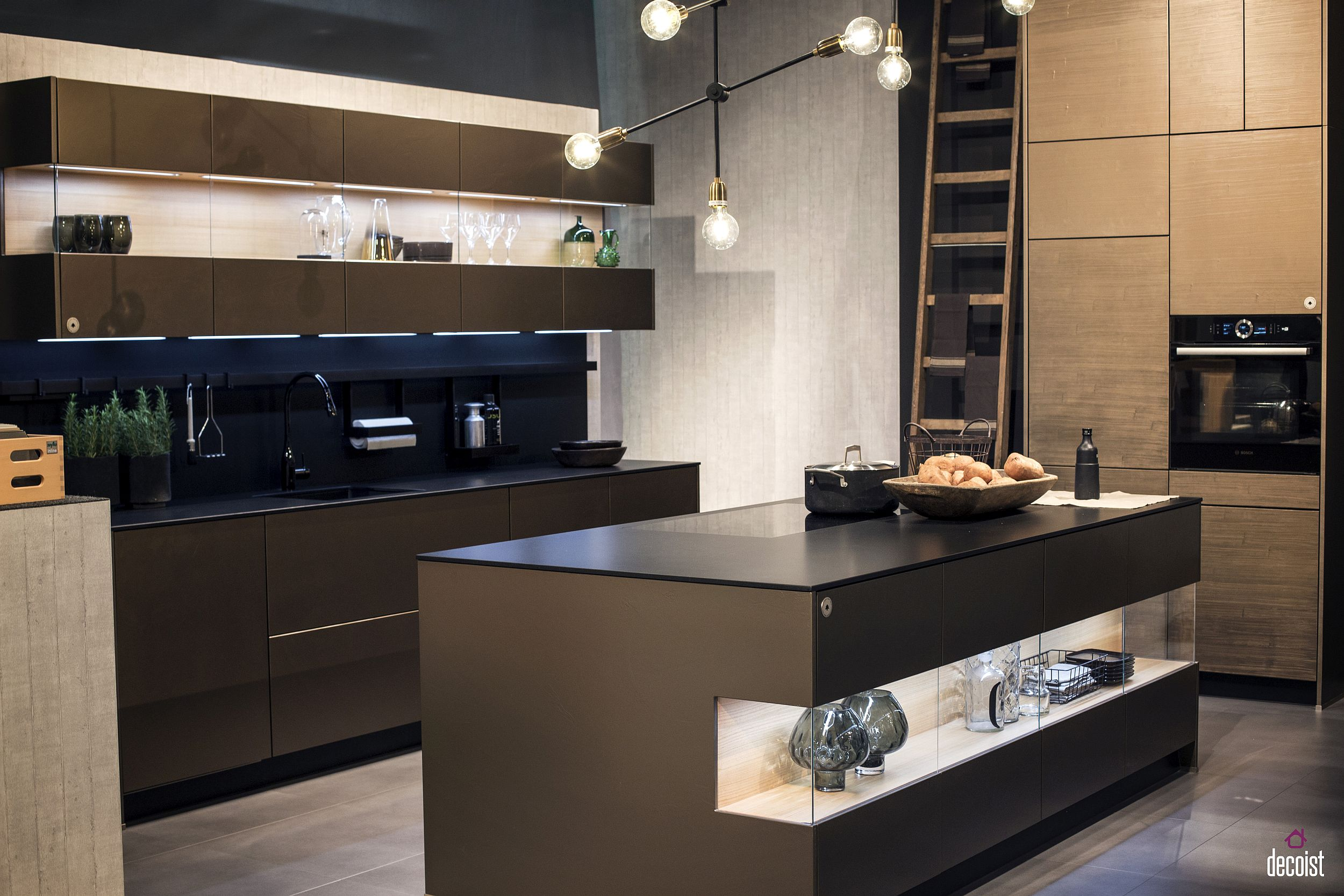 Wall-mounted cabinets from Zeyko also offer ample display space