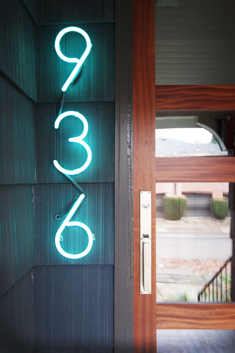 Welcoming-neon-house-number-